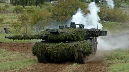 Nach Angaben der Bundeswehr fuhr der Mann auf dem Übungsplatz mit einem Bergepanzer gegen einem Baum. (Symbolfoto)