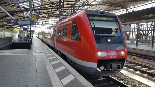 Blick in den Erfurter Hauptbahnhof