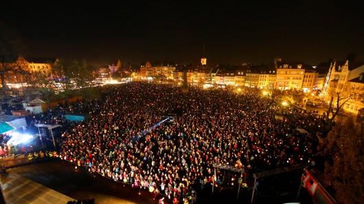 Zum Martinsmarkt auf dem Erfurter Domplatz werden auch dieses Jahr bis zu 10.000 Besucher erwartet.