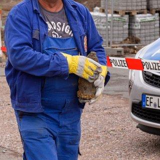 Wegen eines Bombenfundes war die Hugo-John-Straße in Erfurt gesperrt.