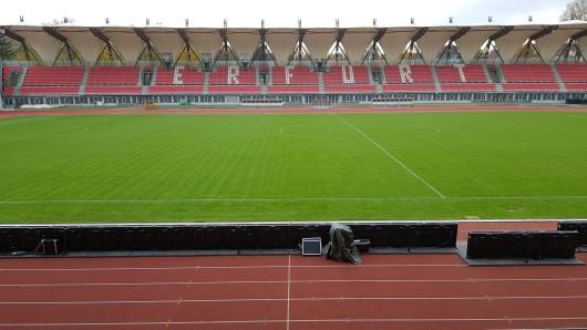 Im Steigerwaldstadion liegt eine teure Rasenheizung. Doch der FC Rot-Weiß Erfurt hat sie nicht genutzt.