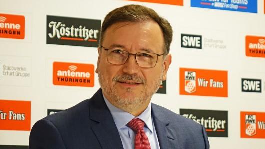 Volker Reinhardt, Insolvenzverwalter beim FC Rot-Weiß Erfurt