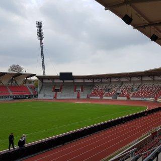 Im Steigerwaldstadio in Erfurt treten Deutschland und Spanien im Länderspiel an. (Archivfoto)