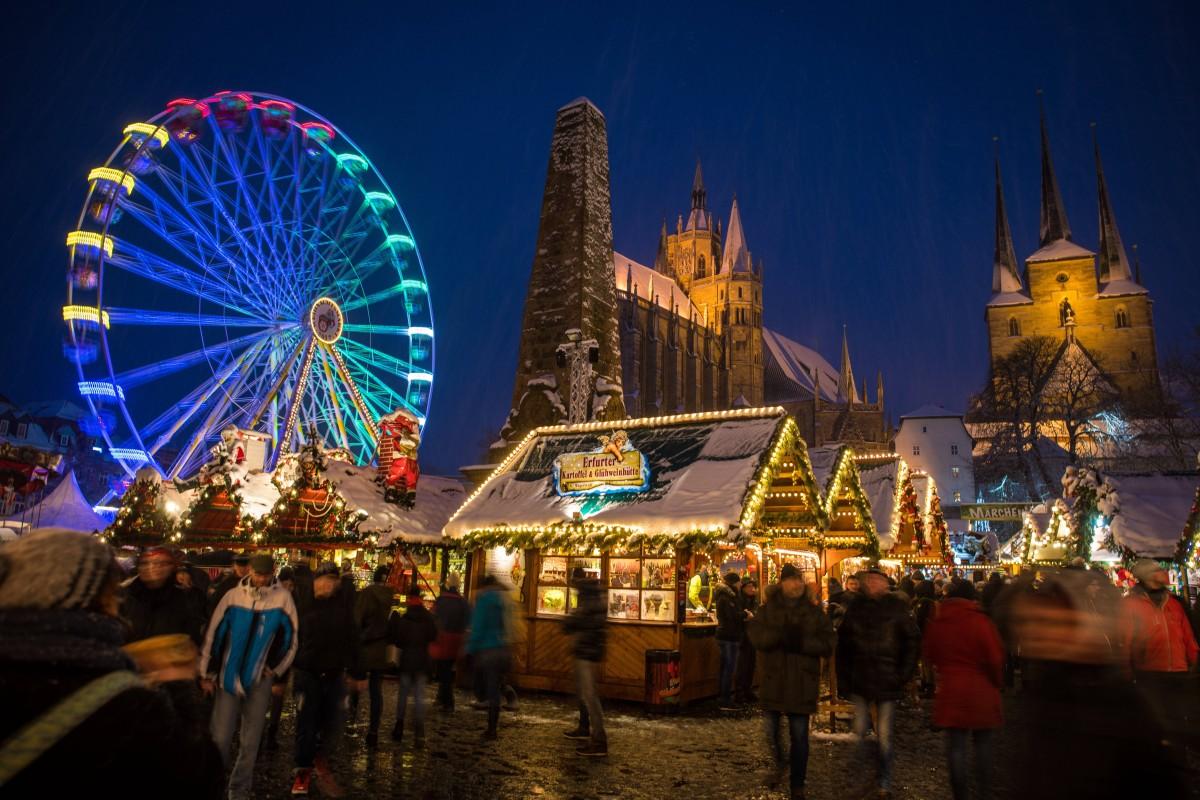 Weihnachtsmarkt Erfurt.Weihnachtsmarkt Abstimmung Erfurt Hat Den Größten Aber Auch Den