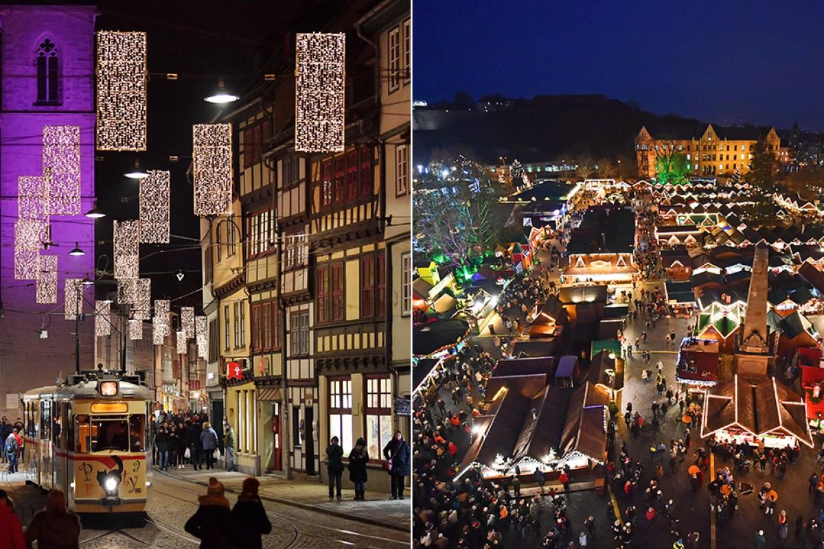 Weihnachtsmarkt Erfurt.Weihnachtsmarkt Erfurt 2018 Wie Schön Alles Glänzt Th 24