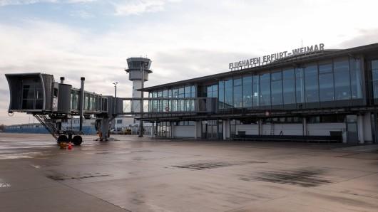 Am Flughafen Erfurt-Weimar werden angesichts der Insolvenz von Germania künftig deutlich weniger Flugzeuge landen.