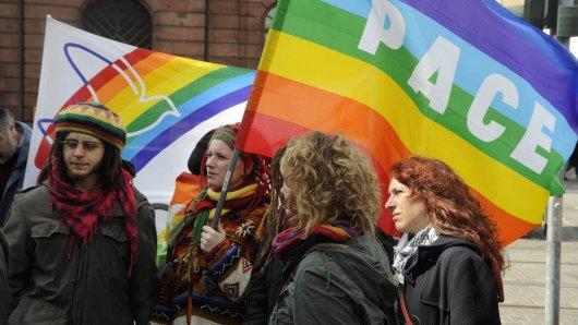 Die Friedensbewegung veranstaltet wieder Ostermärsche (Archivbild).