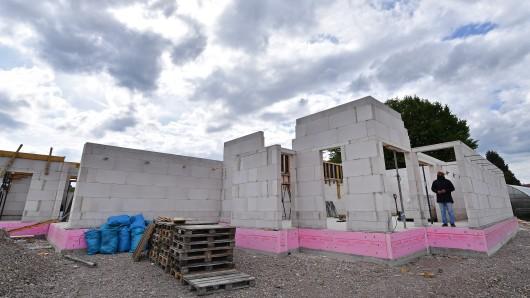 Rohbau der neuen Moschee der Ahmadiyya Muslim Jamaat in Erfurt (Marbach) in Thüringen (Archivfoto)