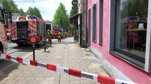Brand in der Krämpferstraße in Erfurt: Die Feuerwehr war am Dienstag (21.05.2019) im Einsatz.