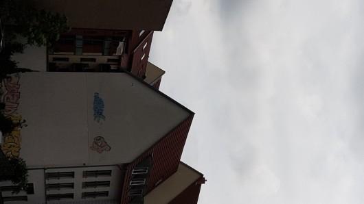 Dieser Hubschrauber der Bundespolizei drehte am Donnerstag (06.06.2019) immer wieder Runden über der Innenstadt von Erfurt.