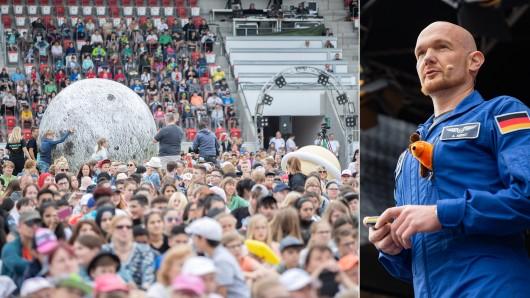 Astronaut Alexander Gerst und die Raumfahrt-Show des DLR haben in Erfurt Tausende Menschen im Steigerwaldstadion begeistert.