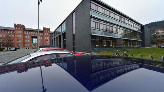 Das Justizzentrum, auch Sitz des Verwaltungsgerichts Meiningen. Hier ist das Urteil gegen ein Ehepaar gefallen, dem Menschenhandel und Kindesmissbrauch vorgeworfen wurden.