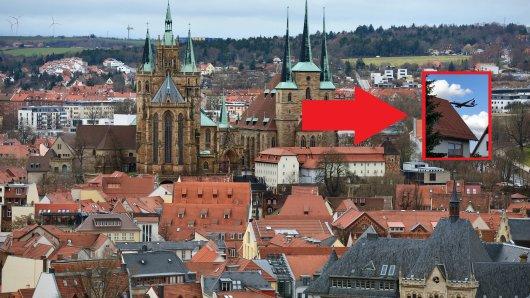Eine Anwohnerin in Erfurt hat ein spektakuläres Foto gemacht. Das hat es damit auf sich...