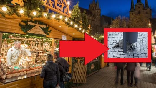 Auf dem Weihnachtsmarkt Erfurt gab es tierischen Besuch.
