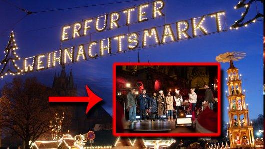 """Die Stars von """"In aller Freundschaft – die jungen Ärzte"""" hatten eine Überraschung für alle Fans auf dem Weihnachtsmarkt Erfurt."""