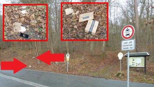 In Jena wurden zahlreiche geplünderte Pakete gefunden.