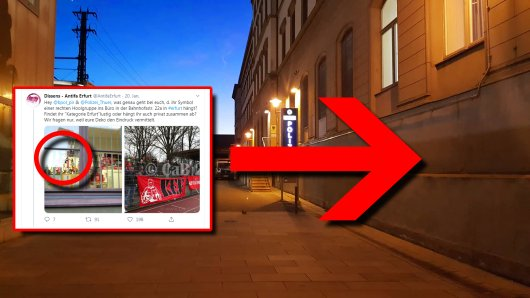 Ein Foto eines Büros der Bundespolizei in Erfurt sorgt im Netz für wilde Spekulationen.