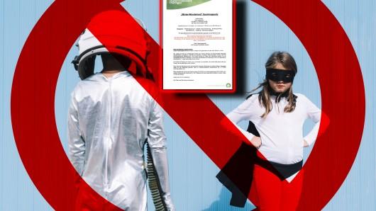 Eine Kita in Erfurt hat den Kindern an Fasching die Kostüme gestrichen und ist mit ihrem Beschluss in massive Kritik geraten. (Symbolbild)