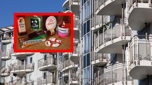 In Erfurt schmissen Teenager mehrere Schnapsflaschen vom Balkon. (Symbolbild)