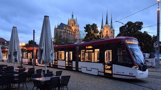 In Erfurt wurde an zwei Tagen auf Straßenbahnen und Busse geschossen. (Symbolbild)