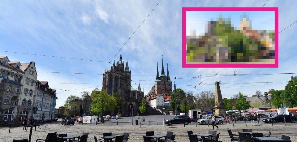 Auf dem Domplatz in Erfurt gibt es eine Veränderung.