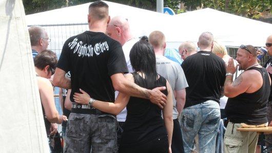 Teilnehmer der Veranstaltung Rock für Deutschland