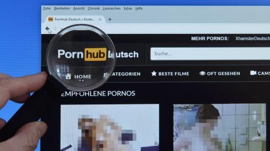 Die Webseite von Pornhub.