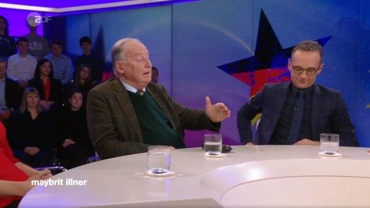 AfD-Chef Alexander Gauland und Außenminister Heiko Maas waren sich bei Maybritt Illner im ZDF uneinig.