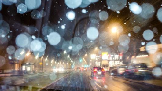 In Thüringen, darunter auch in Erfurt, ist am Montag noch einmal Schnee gefallen.