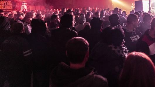 In Apolda hat die Polizei eine rechte Party aufgelöst (Archivbild)