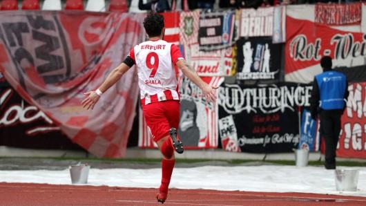 Andis Shala will auch am Sonntag wieder eine Party mit den RWE-Fans machen.