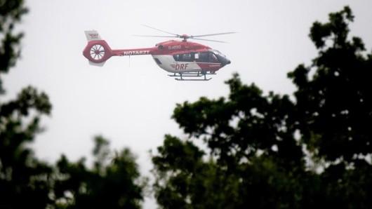 Ein Rettungshubschrauber kam nach dem Unglück in Schmiedefeld zum Einsatz.