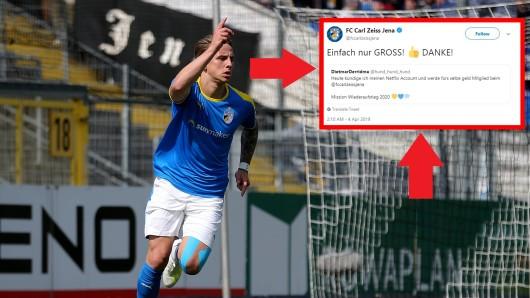 Der FC Carl Zeiss Jena feiert die Idee eines treuen FCC-Fans.