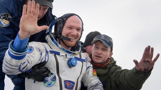 Der deutsche Astronaut Alexander Gerst, alias Astro-Alex, stattet Erfurt einen Besuch ab.)