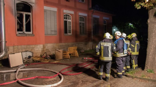 Die Feuerwehr konnte den Brand der Asylunterkunft in Rudolstadt löschen.