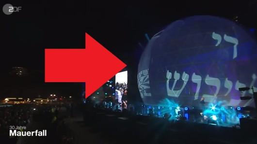 Dieser Schriftzug live im ZDF sorgte für Zoff.