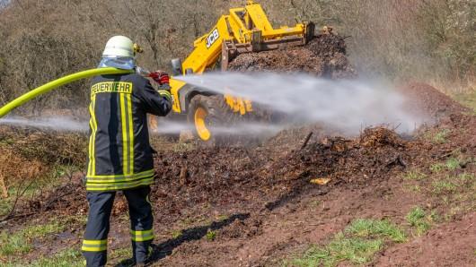 In Thüringen musste die Feuerwehr zu einem Brand auf dem Golfplatz Blankenhain ausrücken