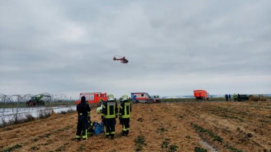 Bei einem Arbeitsunfall im Kreis Sömmerda kam ein Mann ums Leben.