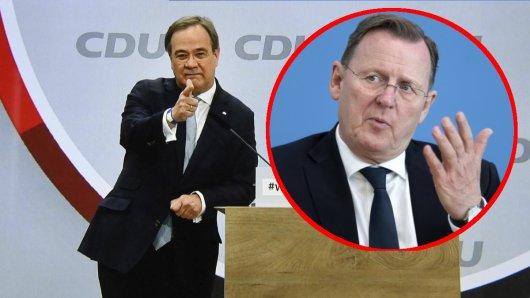 Armin Laschet ist zum neuen CDU-Vorsitzenden gewählt worden, auch Bodo Ramelow (Linke) gratuliert.