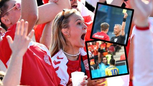 Bei der EM 2021 sorgen zwei Schwalben für Empörung bei den Fans.