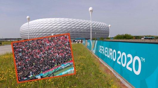 Aufregung vorm Spiel Deutschland gegen Ungarn bei der EM 2021.