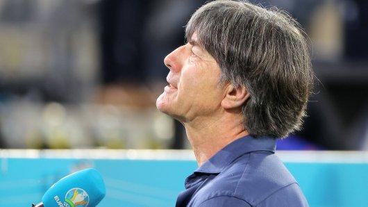 Bundestrainer Joachim Löw im Interview nach dem Spiel Deutschland gegen Ungarn.