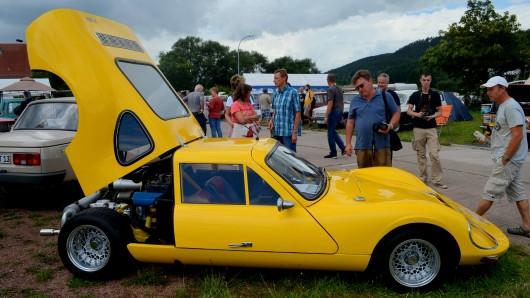 Der Sportwagen Melkus besteht zu circa 80 Prozent aus Wartburgbauteilen und war auf dem Heimweh-Treffen ebenfalls zugelassen.