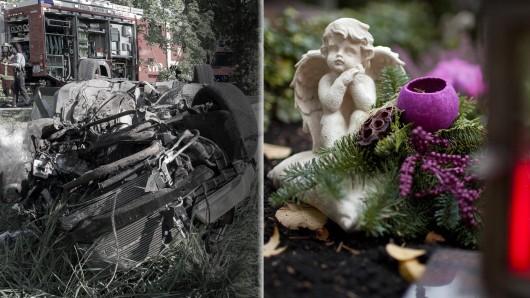 Nach dem schweren Unfall in Döllstedt (21.5.2018) ist einer der Beifahrer nun an seinen Verletzungen verstorben. (Montage: Fabian Peikow, Imago/Photohek)