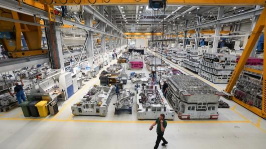 Blick in die Produktion des BMW-Werks Eisenach. Der Autobauer will den Standort in Thüringen massiv ausbauen.