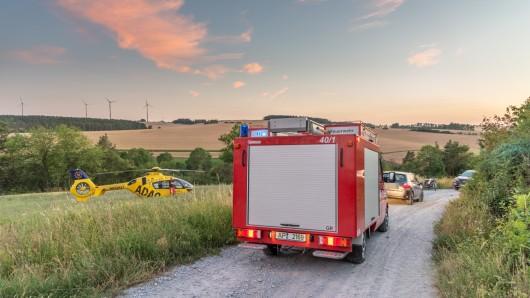 Ein Rettungshubschrauber wurde zu dem Unfall zwischen Rettwitz und Thangelstedt gerufen.