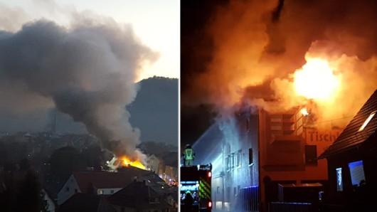 Bei dem Feuer in Kahla entstand enormer Sachschaden. Jetzt will der FC Carl Zeiss Jena der Familie helfen.