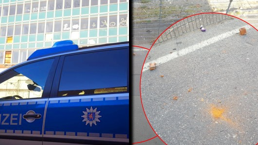 Sie nahmen Verletzungen oder schlimmeres in Kauf: Zwei 17- und 18-Jährige warfen Flaschen und Steinbrocken vom alten TA-Hochhaus in Erfurt.