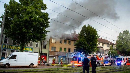 Die junge Frau, die im siebenten Monat schwanger ist, wurde bei dem Feuer in Erfurt schwer verletzt.