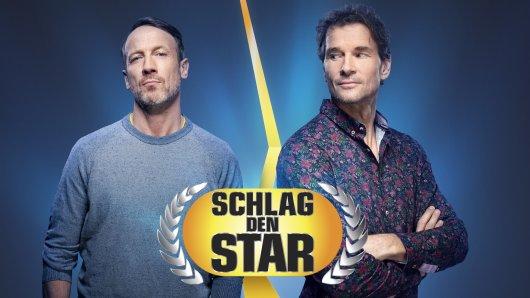 """Bei """"Schlag den Star"""" sind am Samstagabend Wotan Wilke Möhring und Jens Lehmann gegeneinander angetreten."""